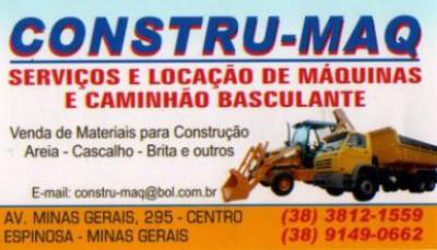 CONSTRU MAC, Espinosa, MG, aluguel, locação, serviço, máquina ... 7fc0e7287d